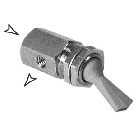 Toggle Valve Momentary 2 Way Without Exhaust